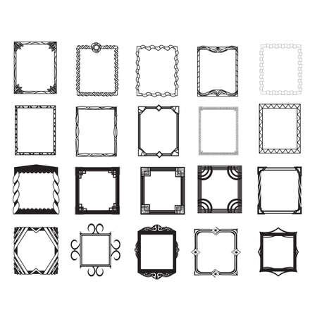 Colección de marcos Foto de archivo - 81537707