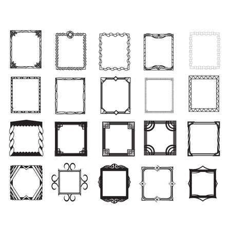 collection of frames Ilustracja