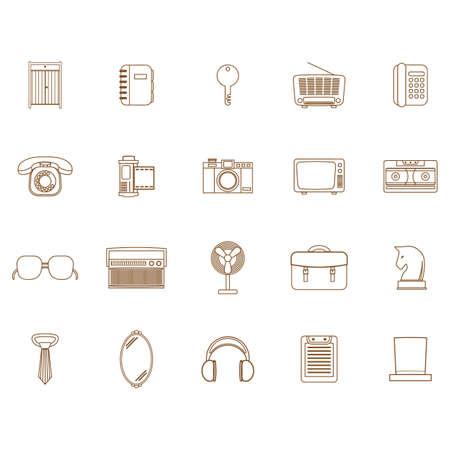 retro icons Ilustração