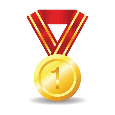 Première médaille d'or Banque d'images - 81536694