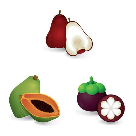 set of fruits Иллюстрация