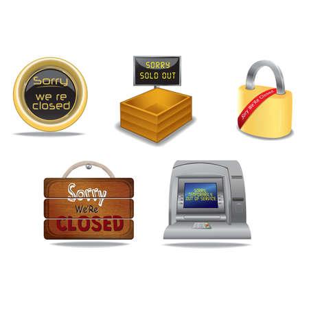 Sorry wir sind geschlossenen Bretter Standard-Bild - 81419010