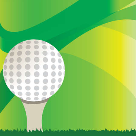 golf ball on tee over abstract background