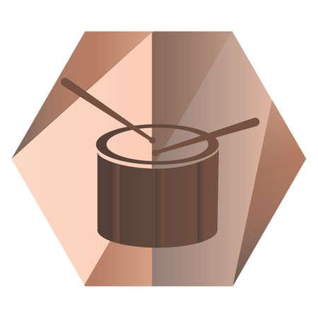drum for music Stock Illustratie