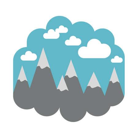 Bergen landschap Stock Illustratie
