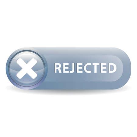 Een afgewezen knop illustratie. Stock Illustratie