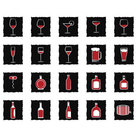 各種のワイン コレクション