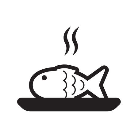 皿に調理された魚