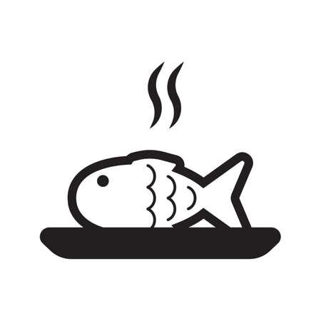 접시에 생선을 요리하다.