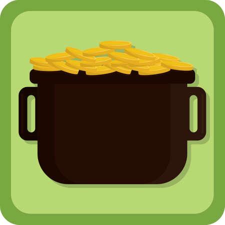 pot of gold Illustration