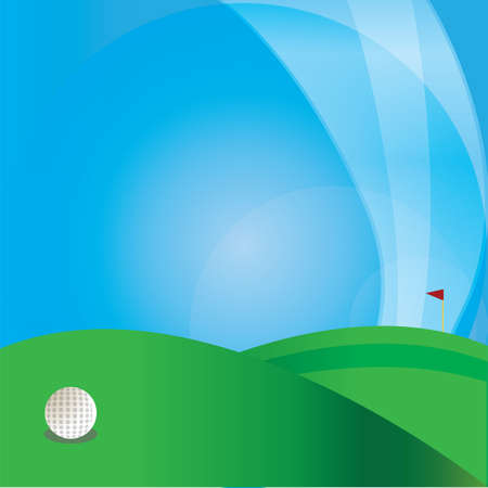 golf ball in golf course