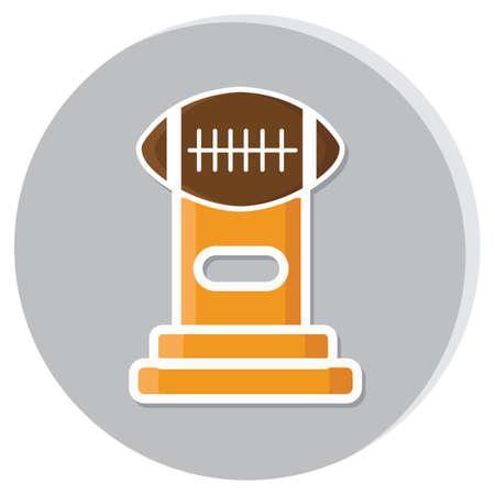 american football trophy Stock Illustratie