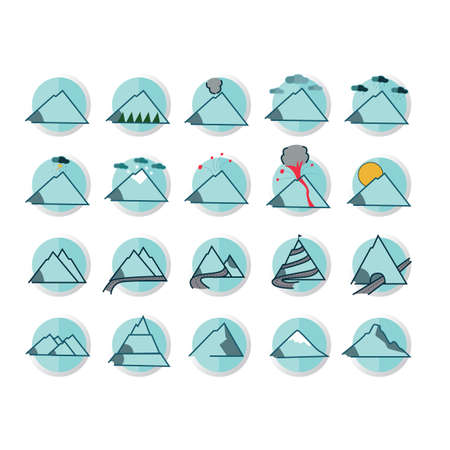 Collection of mountains Illustration