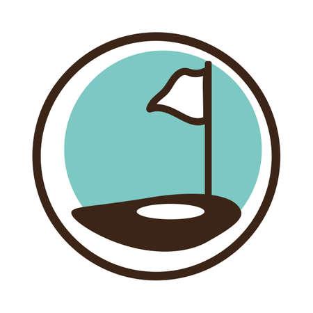 Une illustration de pôle de golf. Banque d'images - 81470542