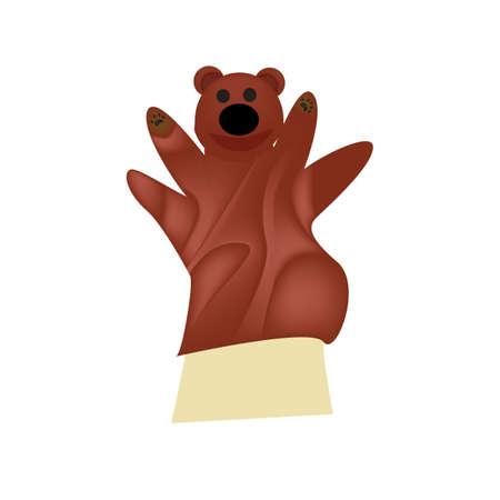 Marioneta de mano de oso Foto de archivo - 81537200