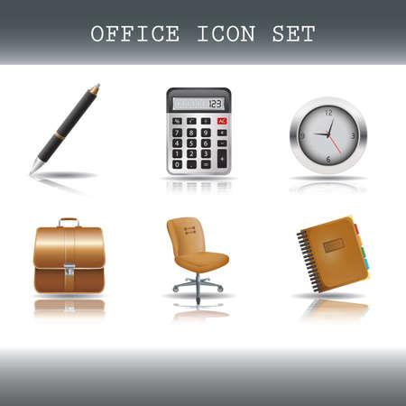 set of office icons Illusztráció