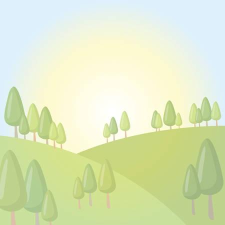 Scenic landscape Illustration