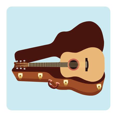 guitar with a guitar case Reklamní fotografie - 106670863