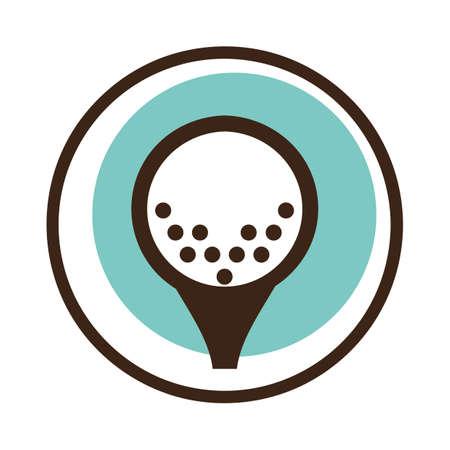 A golf ball on a tee illustration.