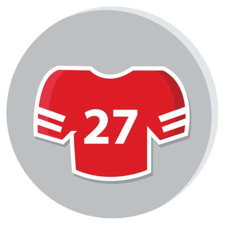 american football jersey Illusztráció