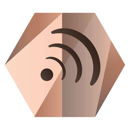 símbolo wifi para música Ilustración de vector