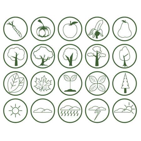 nature icon collection Ilustração