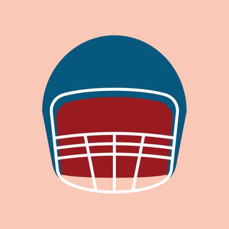 american football helmet Illusztráció