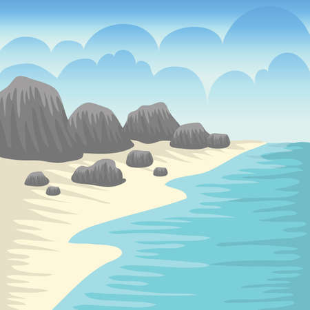 island with rocks background