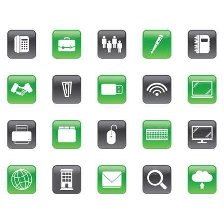 set of office icons Ilustracja
