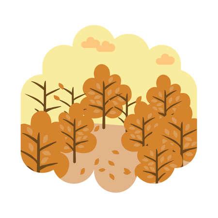 Autumn season Ilustrace