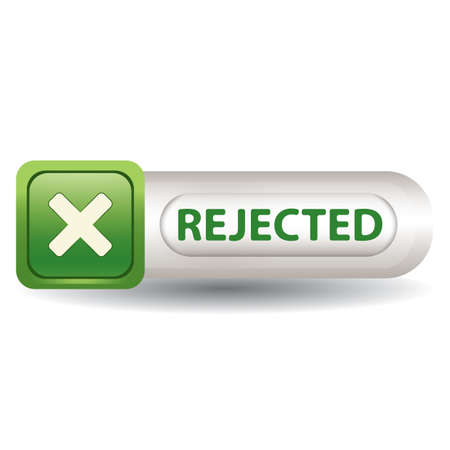 A rejected button illustration. Imagens - 81485706