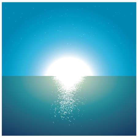 海画像上の日没。