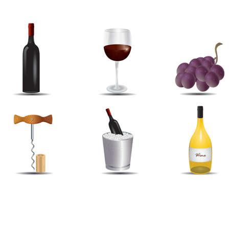 모듬 된 와인 컬렉션 스톡 콘텐츠 - 81537735