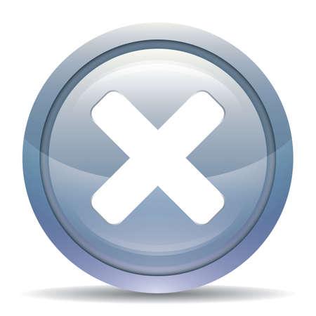 Una ilustración de botón de cancelar. Foto de archivo - 81470588