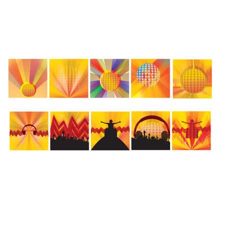 Verzameling van muziek iconen