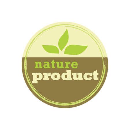 nature product label Ilustração