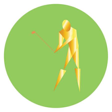 golfer swinging the golf club Illustration