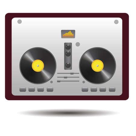 DJ mixer Stock Illustratie