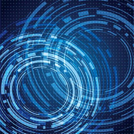 抽象的なコンピューターのブルー背景  イラスト・ベクター素材