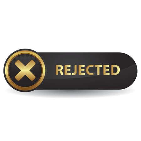 拒否ボタンのイラスト。  イラスト・ベクター素材