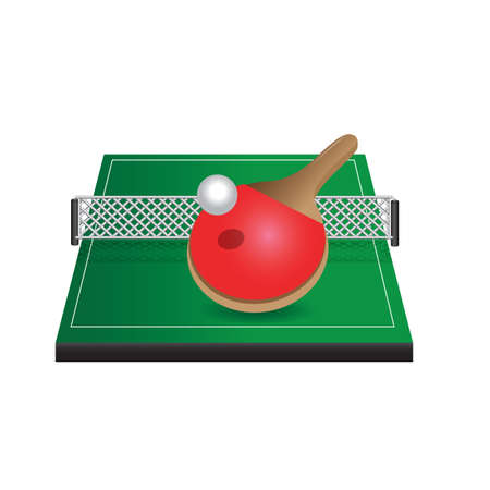 A table tennis table illustration.