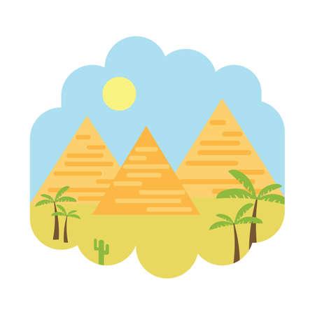 砂漠のピラミッド 写真素材 - 81470284