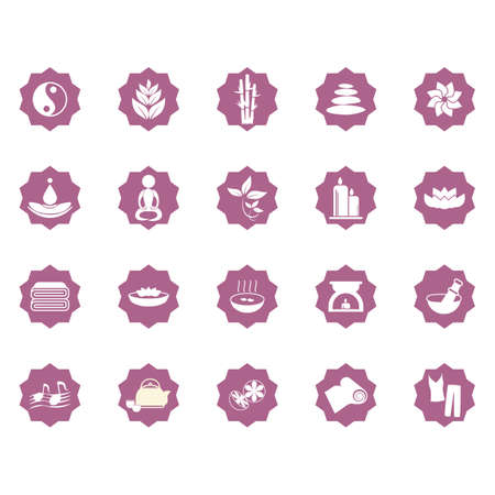 assorted zen icon set 向量圖像