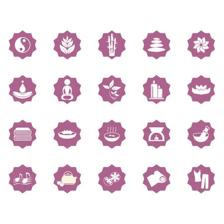 assortiment d'icônes zen Vecteurs