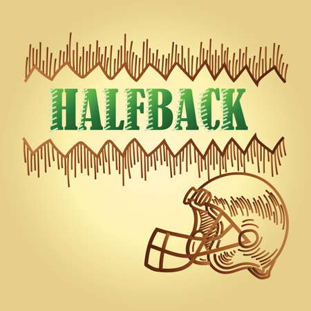 football halfback position text