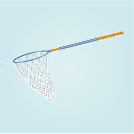 釣りネット イラスト。  イラスト・ベクター素材