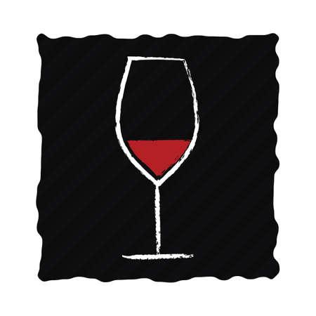 glass of red wine Illusztráció
