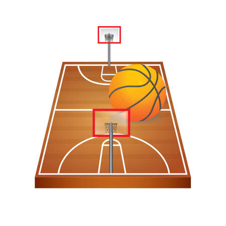 A basketball court illustration.