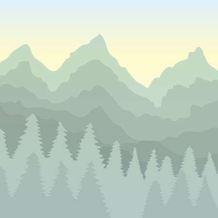 Scenic landscape Ilustrace