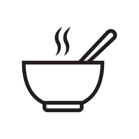 뜨거운 수프 그릇